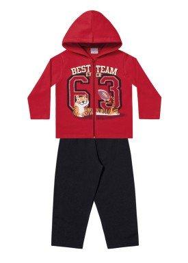 conjunto moletom infantil menino team vermelho fakini 1154 1