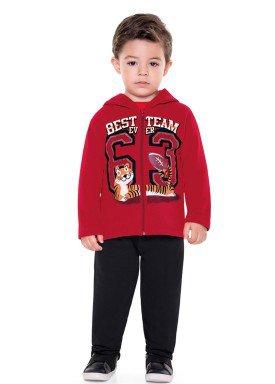 conjunto moletom infantil menino team vermelho fakini 1154 2