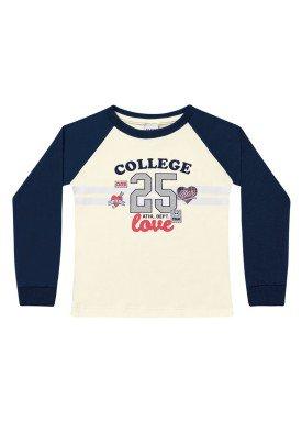 blusa manga longa infantil menina college marfim fakini 1059 1