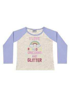 blusa manga longa infantil menina rainbows mescla fakini 1015 1