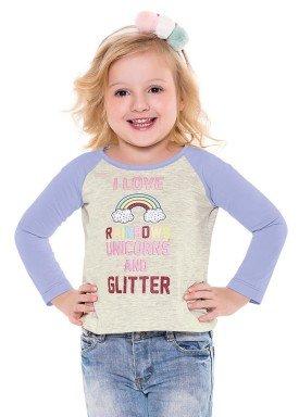 blusa manga longa infantil menina rainbows mescla fakini 1015 2