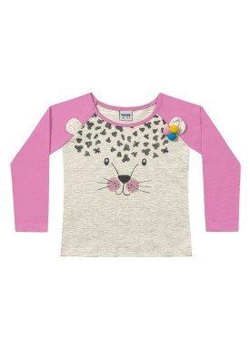 blusa manga longa infantil menina tigre mescla fakini 1030 1