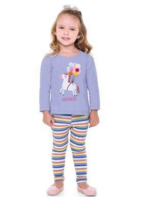 conjunto manga longa infantil menina balloonicorn lilas fakini 1020 2