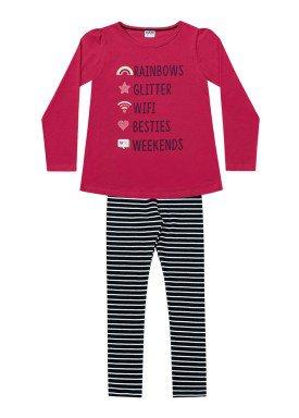 conjunto manga longa infantil menina wifi pink fakini 1068 1