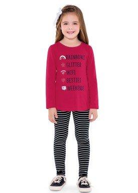 conjunto manga longa infantil menina wifi pink fakini 1068 2