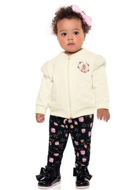 conjunto moletom bebe menina casas marfim fakini 1003 1