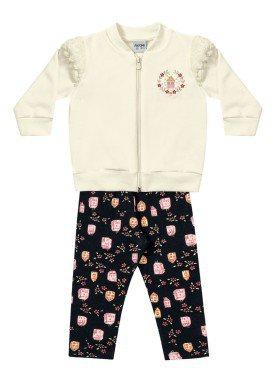conjunto moletom bebe menina casas marfim fakini 1003 3