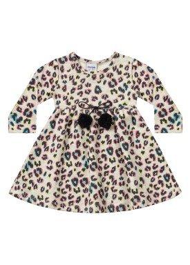 vestido manga longa bebe menina estampado mescla fakini 1012 1