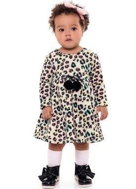 vestido manga longa bebe menina estampado mescla fakini 1012 2