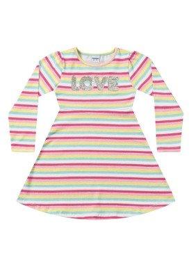 vestido manga longa infantil menina love rosa fakini 1044 1