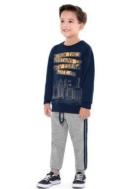 conjunto moletom infantil menino new york marinho fakini 1239 2