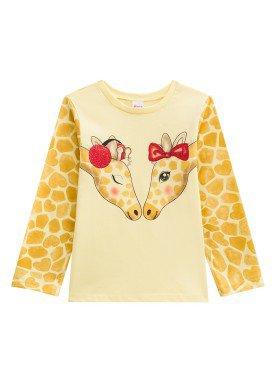 blusa manga longa infantil menina girafas amarelo alenice 44281 1