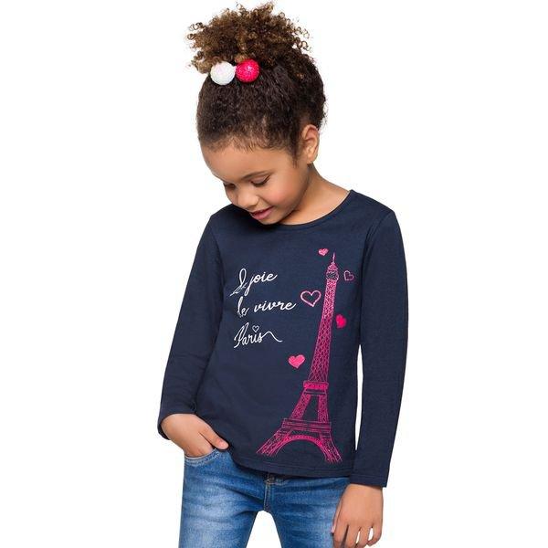 blusa manga longa infantil menina paris marinho alenice 46982 2