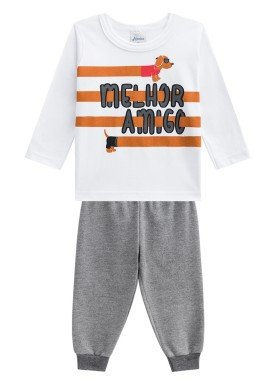 conjunto manga longa bebe menino amigo branco alenice 40925 1