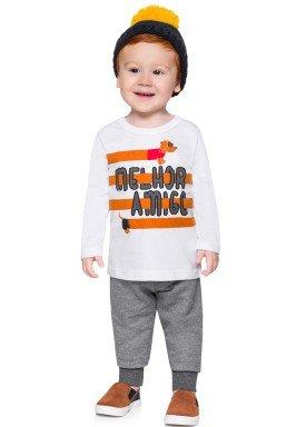 conjunto manga longa bebe menino amigo branco alenice 40925 4