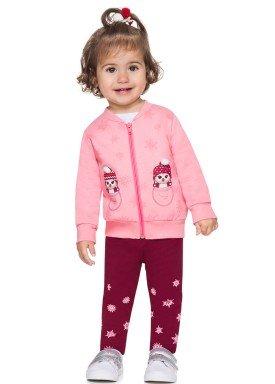 conjunto moletom bebe menina pinguim rosa alenice 40967 4