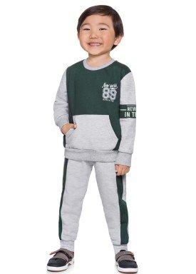 conjunto moletom infantil menino newyork verde alenice 44260 4