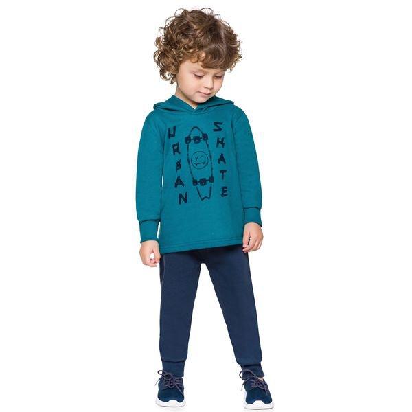 conjunto moletom infantil menino skate verde alenice 44245 5