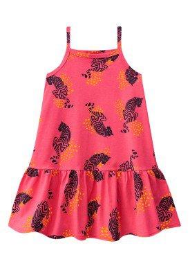 vestido infantil menina estampado vermelho brandili 23936