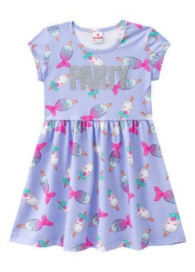 vestido infantil menina party lilas brandili 24103