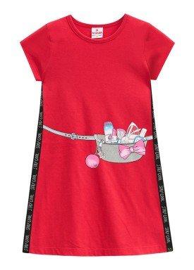 vestido infantil menina cool vermelho brandili 33647