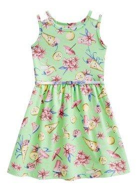 vestido infantil menina sorvetes verde brandili 33646