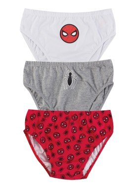 kit cueca 3pc s infantil menino spiderman evanilda 02050063