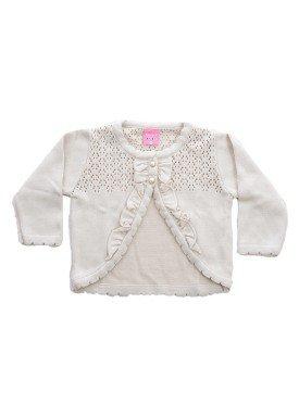 cardiga trico bebe menina bege remiro 1016