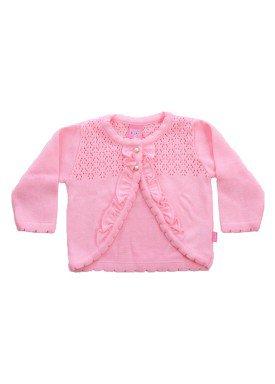 cardiga trico bebe menina rosa remiro 1016 1