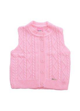 colete trico bebe menina rosa remiro 1013