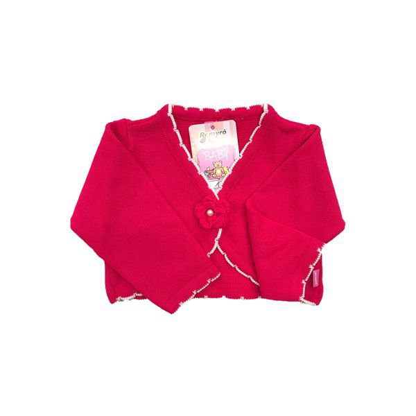 bolero trico bebe menina pink remiro 1022