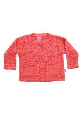 cardiga trico bebe menina laranja remiro 1021 1