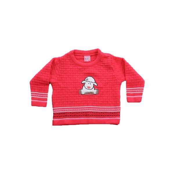 sueter trico bebe menina ovelha pink remiro 1015