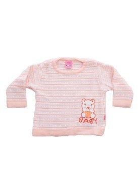 sueter trico bebe menina salmao remiro 1018