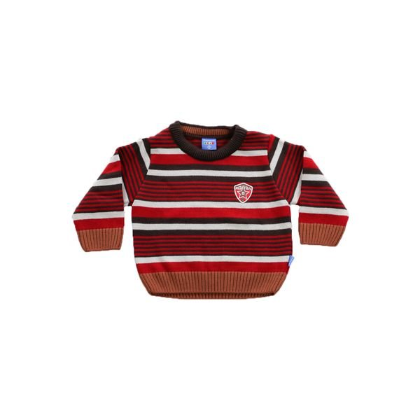 sueter trico bebe menino vermelho remiro 1002