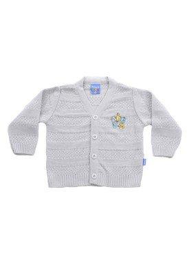 cardiga trico bebe menino cinza remiro 1038