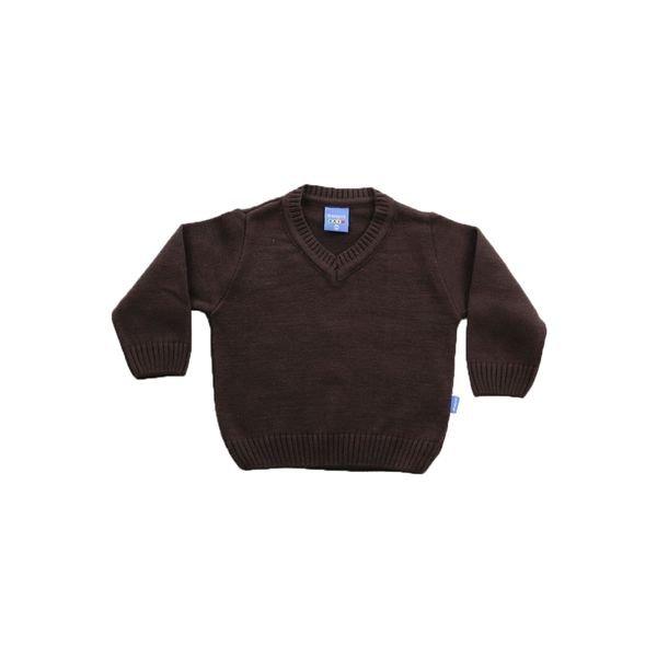 sueter trico bebe menino marrom remiro 1006