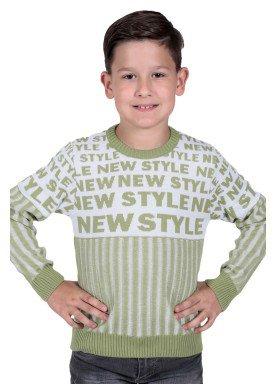 sueter trico infantil menino verde remiro 1232 1