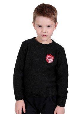 sueter trico infantil menino preto remiro 1235