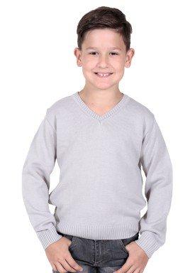 sueter trico infantil menino cinza remiro 1211