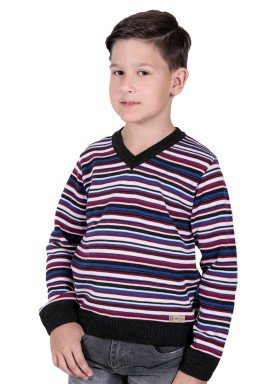 sueter trico infantil menino vermelho remiro 1231