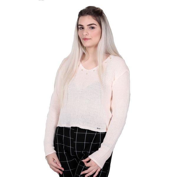 sueter trico juvenil menina salmao remiro 0063