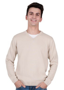 sueter trico juvenil menino bege remiro 1401