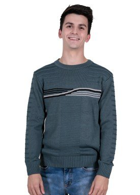 sueter trico juvenil menino grafite remiro 1405
