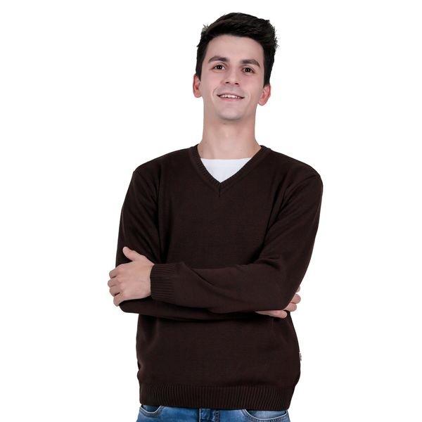 sueter trico juvenil menino marrom remiro 1401