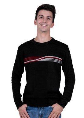 sueter trico juvenil menino preto remiro 1405
