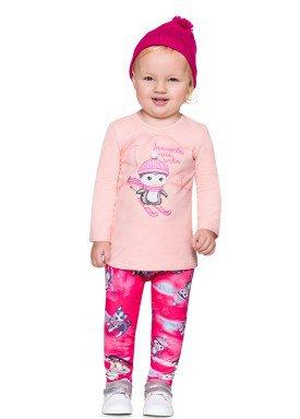 conjunto manga longa bebe menina pinguim rosa alenice 40964 4
