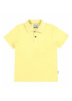 camisa polo basica infantil menino amarelo alakazoo 00149