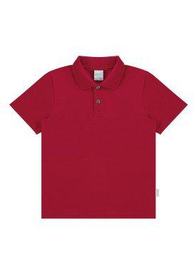 camisa polo basica infantil menino vermelho alakazoo 00149