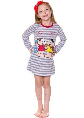 camisola manga longa infantil menina turma monica mescla evanilda 30040010